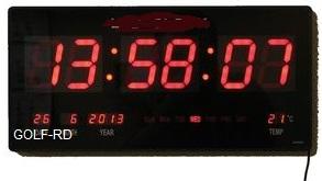 שעון קיר חשמלי גולף GOLF 7526
