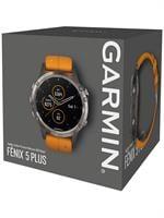 Garmin fenix 5 Plus Sapphire Titanium with Solar Flare Oran