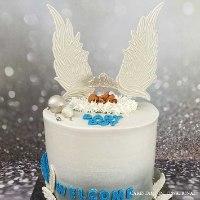 זוג כנפיים ענק דגם 2 | ליצירה בשוקולד | כנפיים של מלאך לקישוט עוגות מיוחדות | חדש 2021