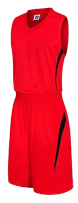 תלבושת כדורסל בעיצוב אישי Red דגם #6009
