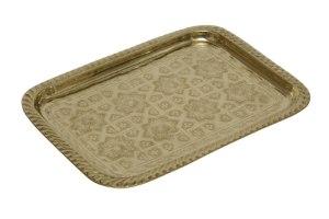 מגש מרוקאי מלבני זהב XL  מידות: 33X24.5