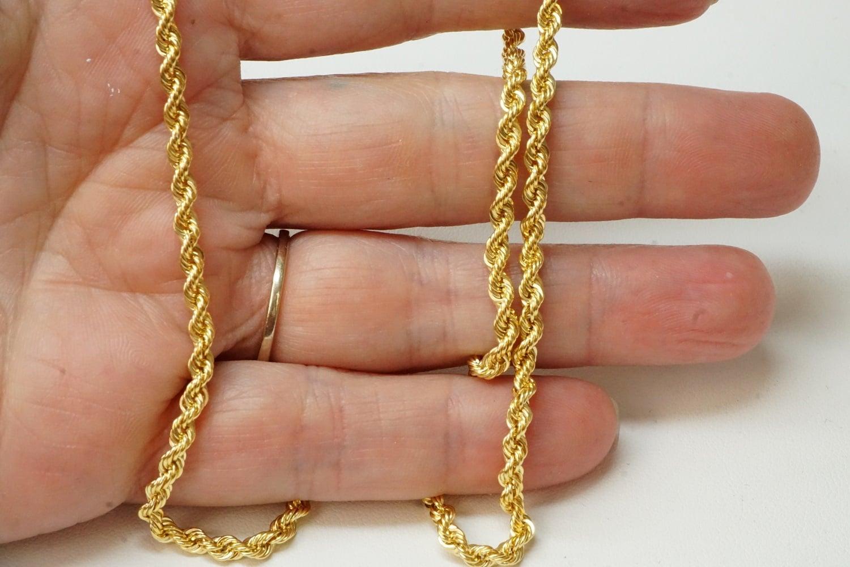 שרשרת זהב חבל 3.2 ממ|שרשרת זהב חבל לאישה| 14 קרט