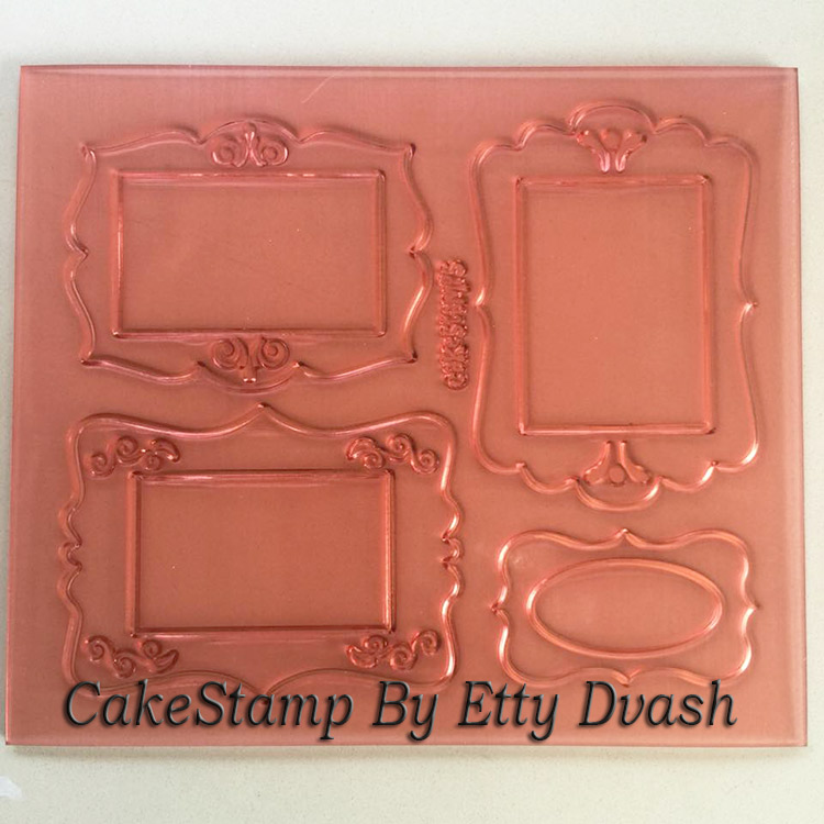 סט מסגרות לתמונה אכילה  - יחידה אחת לסט - ליצירה בשוקולד ובצק סוכר