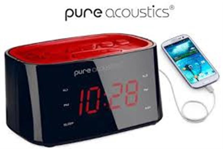 שעון רדיו דיגיטלי USB + PURE ACOUSTICS ICK-604