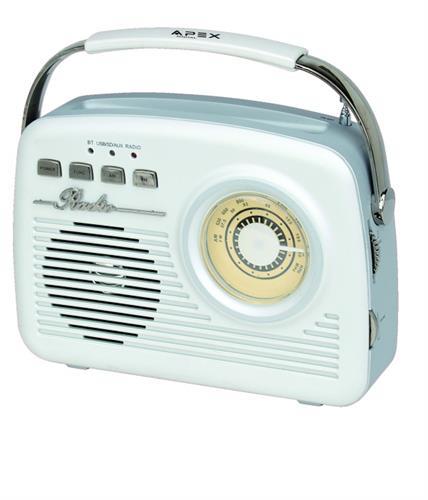 APEX רמקול נייד משולב רדיו בעיצוב רטרו דגם AP1230