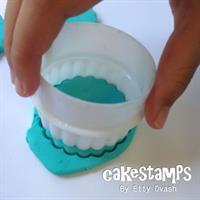 סט חותכני פלסטיק עגול ומסולסל דו-צדדי