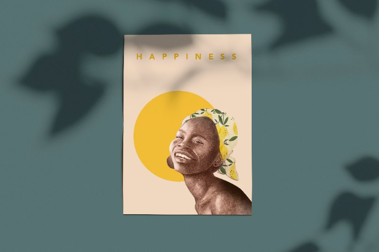 סט גלויות- Happiness