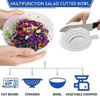 הקערה המקורית להכנת סלט ב 60 שניות 2 מוצרים ב1 – Quik perfect salad