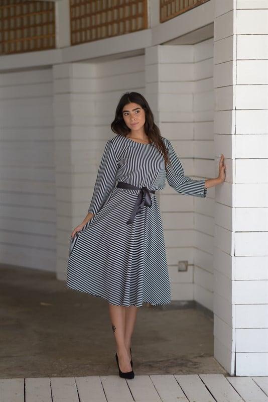 שמלת פסים קלוש