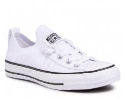 נעלי CONVERSE אולסטאר  נמוך לבן בלי שרוך יוניסקס