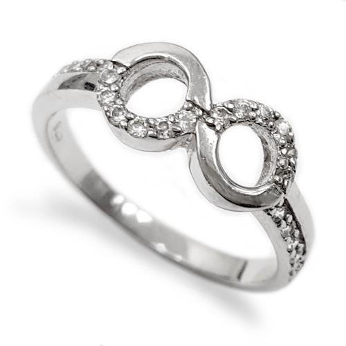טבעת כסף משובצת אבני זרקון RG5564 | תכשיטי כסף | טבעות כסף