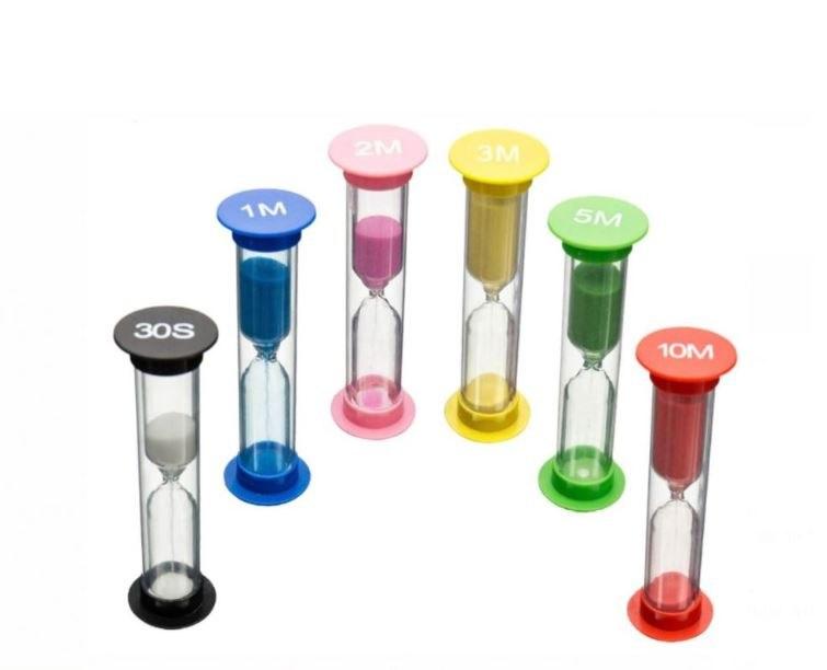 שעון חול - סט 6 שעונים בזמנים שונים