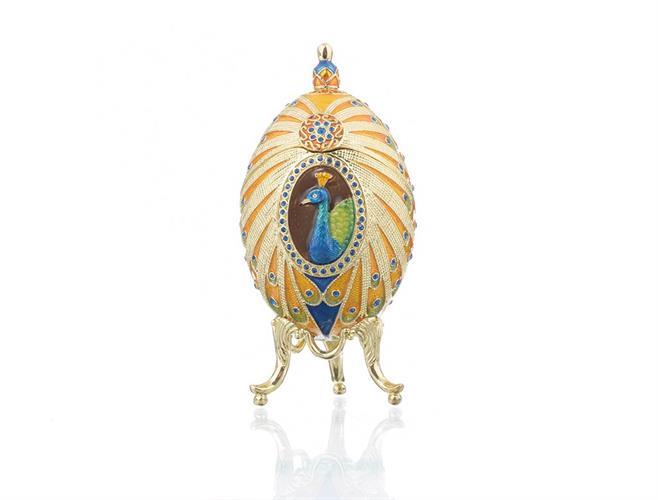 קופסת תכשיטים פברז׳ה - טווס צבעוני
