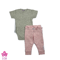 סט ב.גוף שרוול קצר ומכנס תינוקות
