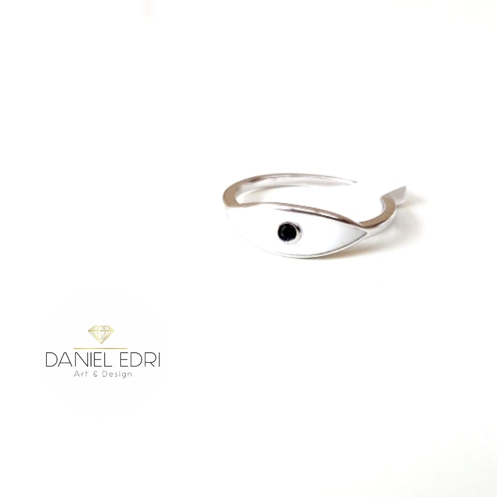 טבעת עין אחת - לבן