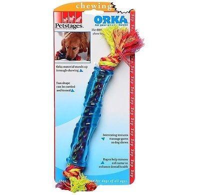 משחק לכלב אורקה צינור עם חבל פט סטייג'