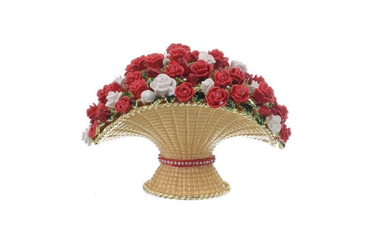 קופסת תכשיטים פרחים צבעוניים