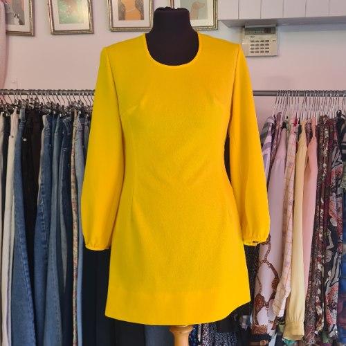 שמלת סיקסטיז צהובה יפהפייה מידה S/M