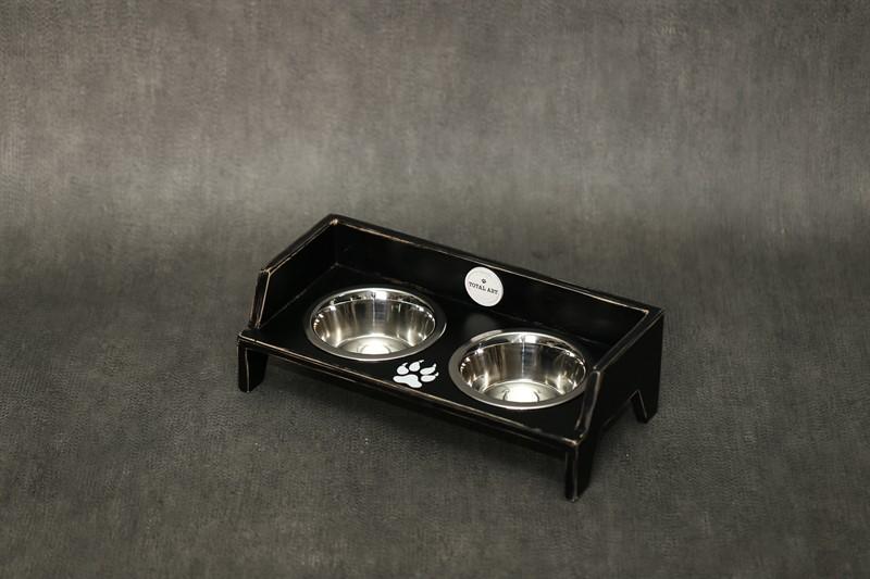 כלי אוכל ושתיה לחתול- שוליקה XS-S שחור ווש