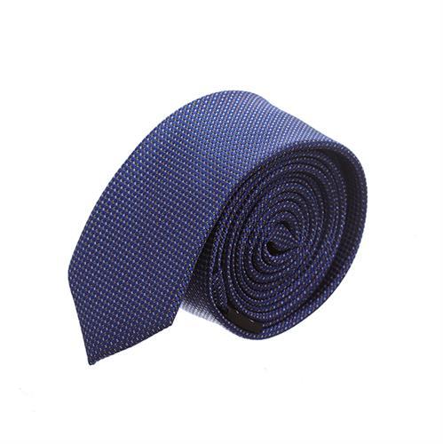 עניבה סלים מדוגמת כחול