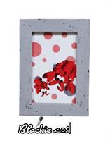 """הדפס גראפי """"דפוס"""" לובסטרון 19×15 מיסגרת עץ ישן"""