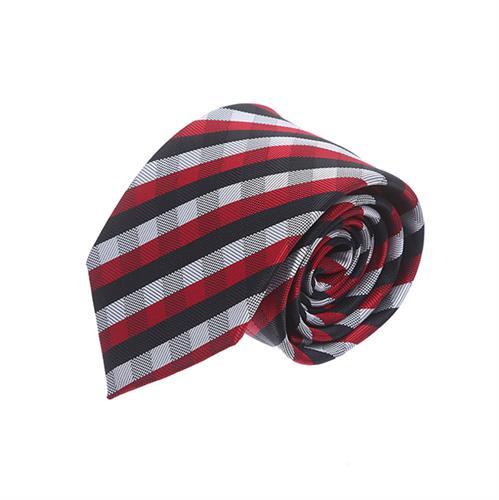 עניבה בשיבוץ סקוטי אדום שחור