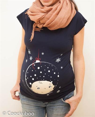 חולצת הריון קוקובו כדור שלג שרוול קצר - החולצה שתגדל עם ההריון שלך