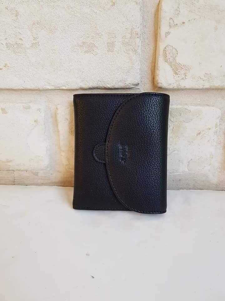 ארנק דמוי עור קטן שחור 4069
