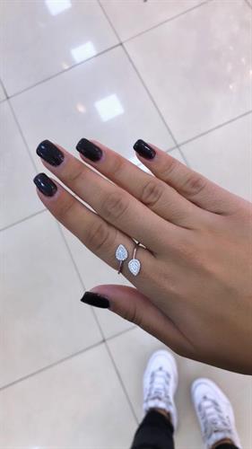 טבעת עלה כסף
