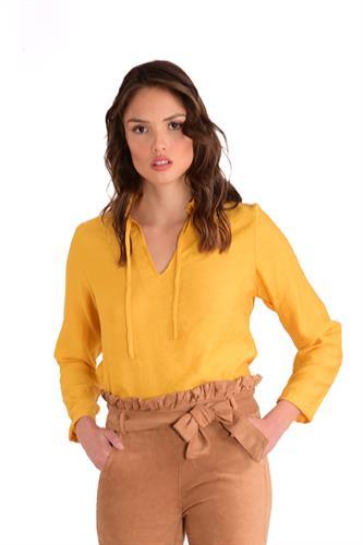 חולצה קייט ארוך חרדל