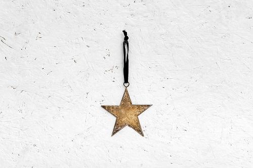 כוכב שטוח ממתכת - זהב (גודל S)