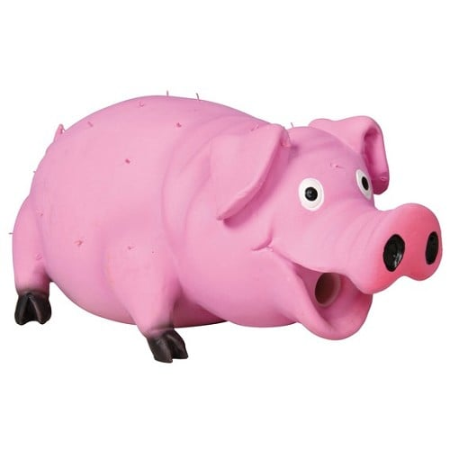 """צעצוע חזיר לטקס 23 ס""""מ ורוד"""