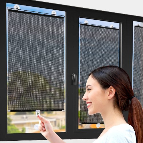 תריסי רולר ניידים לחלון שמש