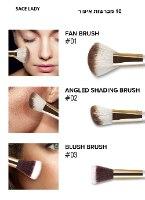 סט מברשות איפור פנים וגוף