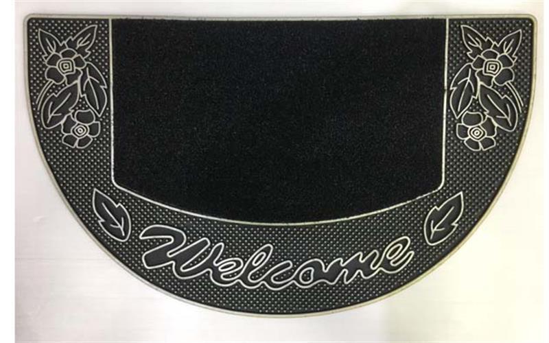 שטיח כניסה לבית welcome מעוצב- חצי אליפסה
