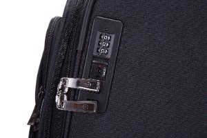 """מזוודה גדולה 28"""" SWISS ALPINE בד קלה וסופר איכותית - צבע שחור"""
