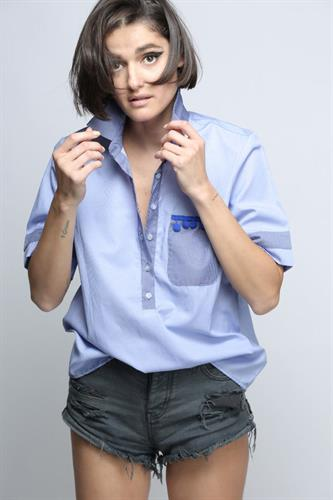 חולצת נינה כחולה