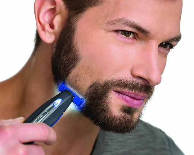 מגלח/מדלל שיער פנים מקצועי נטען