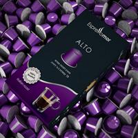 100 קפסולות אספרסו מור ALTO תואם נספרסו - חוזק 8