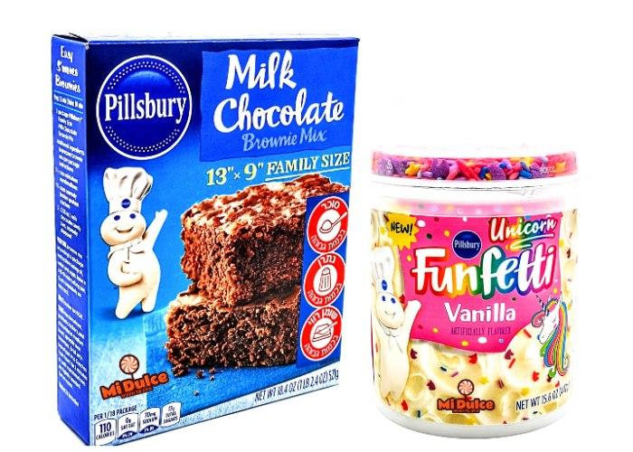 Pillsbury תערובת בראוניז חלב + ציפוי וניל ורוד