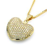שרשרת לב פאוה יהלומים שרשרת יהלומים עם תעודה גמולוגית IGL