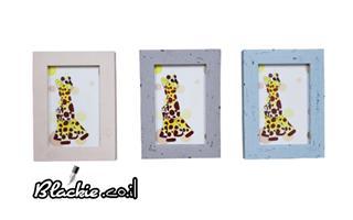 """הדפס גראפי """"דפוס"""" ג'יפי הגירפי 19×15 מיסגרת עץ ישן"""