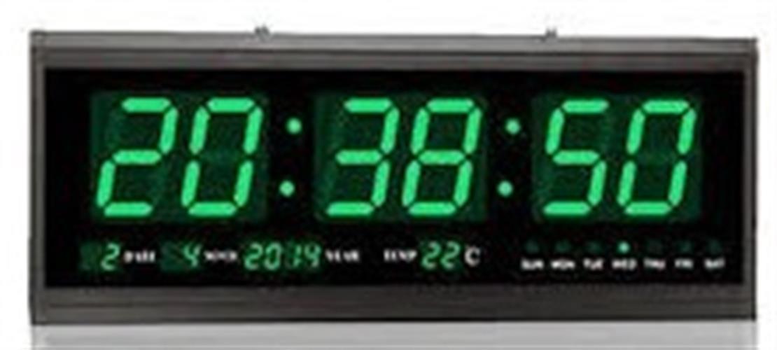 שעון קיר דיגיטלי גולף 4819 GOLF תאריך וטמפרטורה