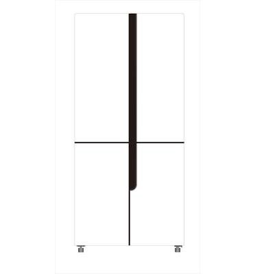 מקרר 4 דלתות NO FROST מקפיא תחתון 440 ליטר תוצרת AMCOR דגם AM4540W זכוכית לבנה
