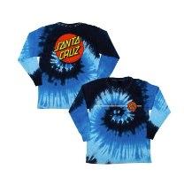 SANTA CRUZ Boys Classic Dot L/S Regular T-Shirt Blue Ocean