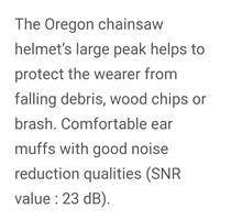 קסדה Oregon להגנת הראש תקן EN397 כוללת מגן רשת ואוזניות