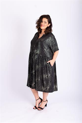 שמלת אורי שחור ברונזה