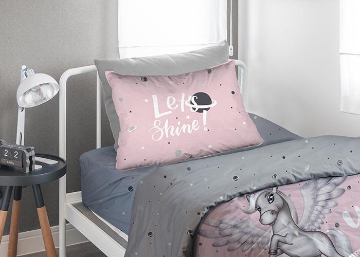 סט מלא מיטה וחצי חד קרן 100% כותנה