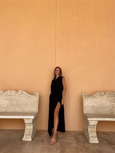 שמלת נלי שחורה קיץ