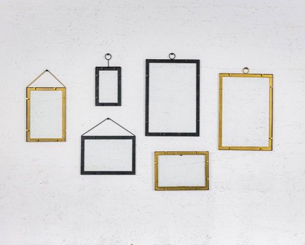 סט של 6 מסגרות זהב ושחור